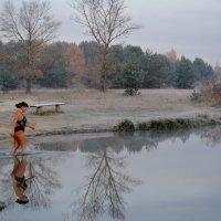 Пляжный сезон окончен, но...как оказалось, не для всех!   (31 октября - первые заморозки!) :: Валентина Данилова