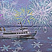 Праздничный Гамбург. В порту :: Nina Yudicheva