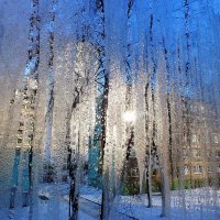 вид через зимнее стекло балкона :: Александр Прокудин
