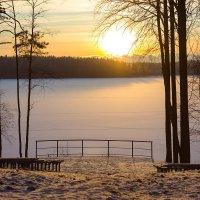 Закат на озере Зеркальное.. :: Николай Т