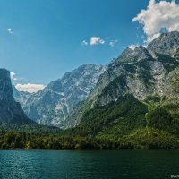 Озеро Кёнигзее. Гора Вацтманн. :: Надежда Лаптева