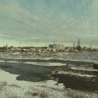 вид с левого берега реки Луга на окраину Кингисеппа :: Михаил Жуковский