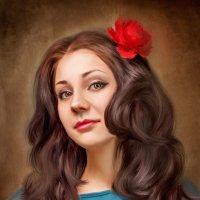 Отрисовка по фотографии (Картина маслом) :: Наталья Кайгородова