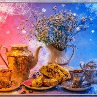 Кофе с рождественским кексом. :: Милена )))