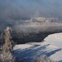 Вид с моста на Ангару в минус 27... :: Александр Попов
