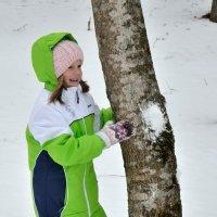играем в снежки :: Мария Климова