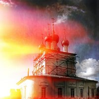 Угодичи , Церковь Николая Чудотворца и Богоявления в Угодичах :: Евгений Жиляев