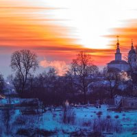 зимний вечер во Владимире :: Сергей Цветков