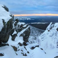 Панорама облачного утра на сопке :: Мария Кухта