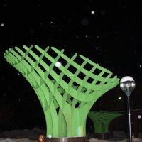 Скульптура дерево и человек :: Наталья Золотых-Сибирская