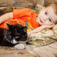 малыш и кот :: Ольга Кошевая