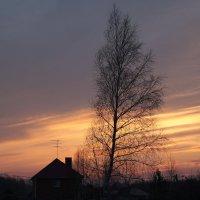 Закат в деревне :: Александр Коликов