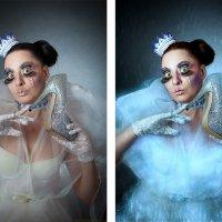 Снежная с туфелькой (до и после) :: Veronika G