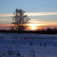 Морозный закат. :: Андрей Дурапов