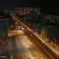 Дорога ночного города Серпухов :: Юрий Пузанов