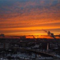 Морозный закат... :: алексей афанасьев