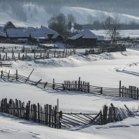 Деревенский пейзаж :: Евгения