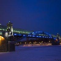 Огни ночной Москвы, Андреевский мост :: Виктор М