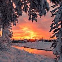 закат в деревеньке :: Александр