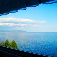 Байкал из окна поезда :: vladimir Egoshin