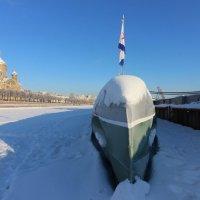 Прогулки по льду. Подводная лодка :: Вера Моисеева