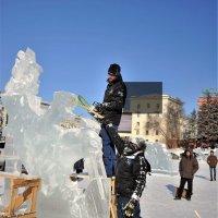 Как рождаются ледяные шедевры из льда   серия 4\\5 :: Николай Сапегин