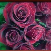 Букет бардовых роз :: Наталья Золотых-Сибирская