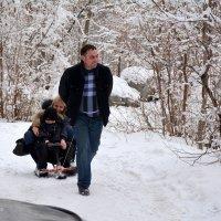 Хорошо, когда зима снежная... :: Anna Gornostayeva