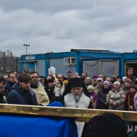 Освящение Креста на купол храма Алексея Мечёва.(3) :: Юрий