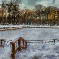 Лебединый пруд зимой. :: Василий Ярославцев