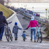 Папа,мама ,я - велосипедная семья :: Михаил Юрин