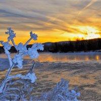Морозное утро на реке :: Сергей Чиняев