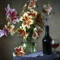 С букетом лилий... :: lady-viola2014 -