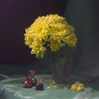 Желтые хризантемы. :: Оксана Евкодимова