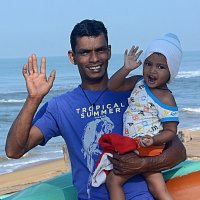Ланкиец с дочкой :: Асылбек Айманов