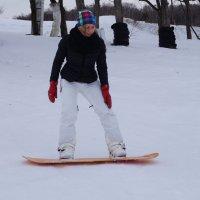 Первые шаги в покорении сноуборда. :: Серж Поветкин