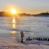 Закат у реки :: Диана Задворкина