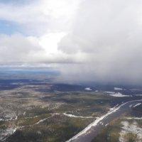 Весенне зимняя гроза. С высоты птичьего полёта. :: Alexey YakovLev