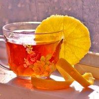 Чай с апельсином :: galina tihonova