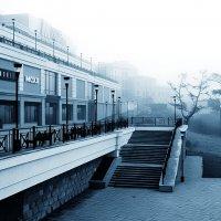 Туманное одиночество города :: Александр   Матвей БЕЛЫЙ
