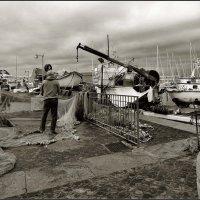 В рыбацком порту. :: Leonid Korenfeld