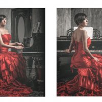 Lady in red :: Irina Zinchenko