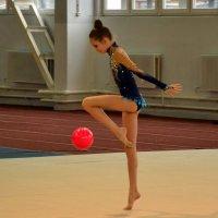 Гимнастка с мячом :: Владимир Болдырев
