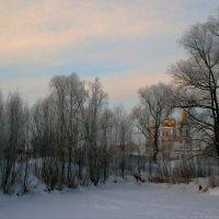 Зимний пейзаж с собором :: Евгений Юрков