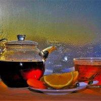 Чай с лимоном на подоконнике :: Сергей Чиняев