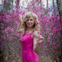 Девушка в багульнике :: Татьяна Котова