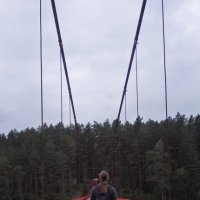 На подвесном мосту через Катунь :: Lady Etoile