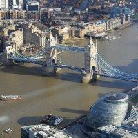 Вид на Темзу с башни Shard (72 этаж) :: Лев