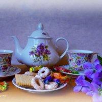 Воскресенье. Утренний чай. Угощайтесь, друзья! :: Nina Yudicheva
