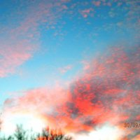 облака  на закате......и кровь потекла. :: Александра Полякова-Костова
